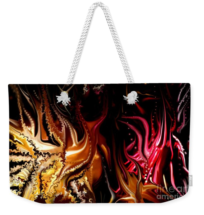 Abstract Weekender Tote Bag featuring the digital art Until The End by David Lane