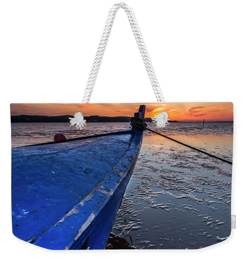 Boat Weekender Tote Bag featuring the photograph Until To The End by Edgar Laureano