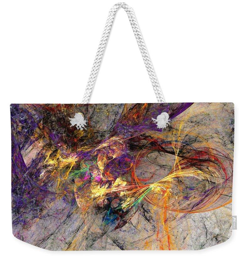 Digital Painting Weekender Tote Bag featuring the digital art Untitled 01-14-10 by David Lane