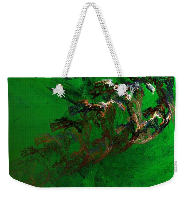 Digital Painting Weekender Tote Bag featuring the digital art Untitled 01-15-10 by David Lane