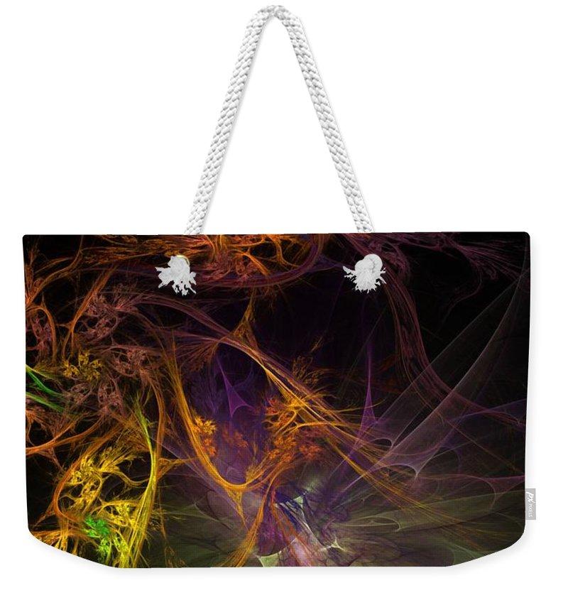 Digital Painting Weekender Tote Bag featuring the digital art Untitled 01-20-10 by David Lane