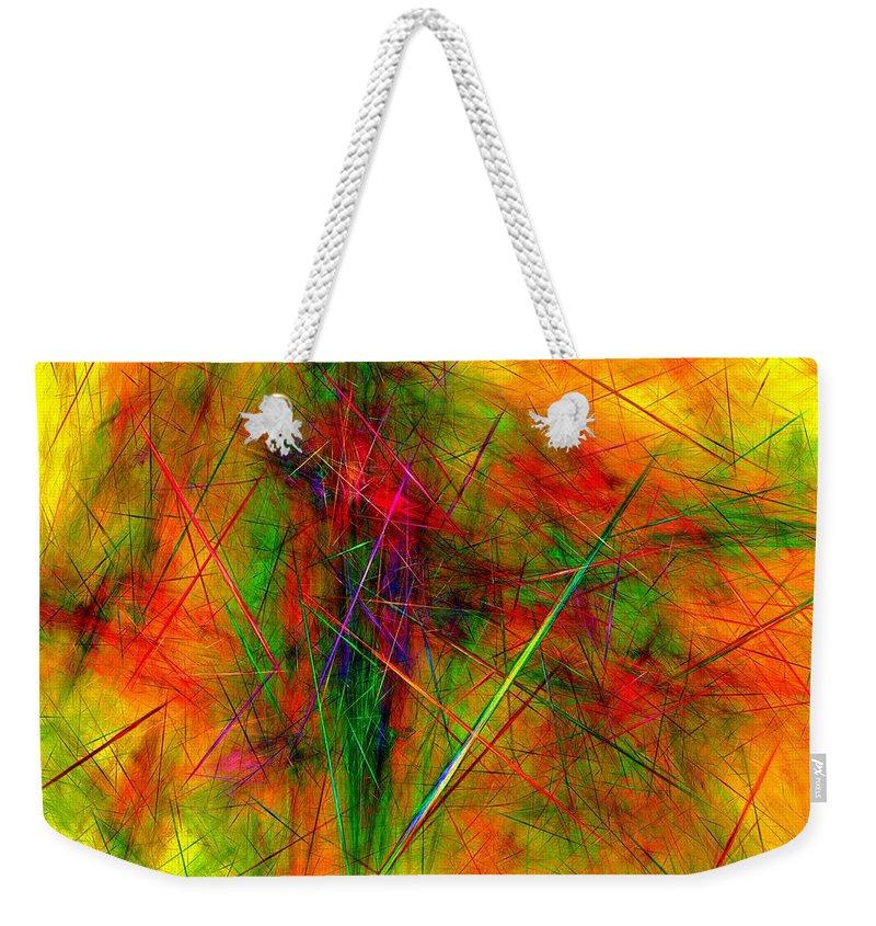 Digital Painting Weekender Tote Bag featuring the digital art Untitled 0123-10 by David Lane