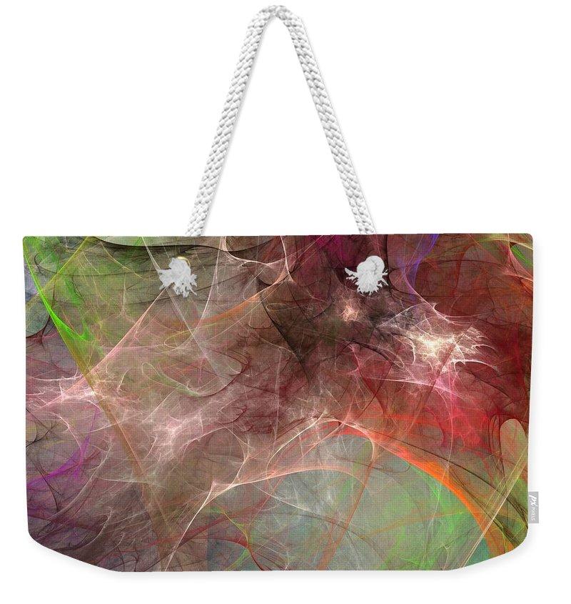 Digital Painting Weekender Tote Bag featuring the digital art Untitled 02-04-10 by David Lane