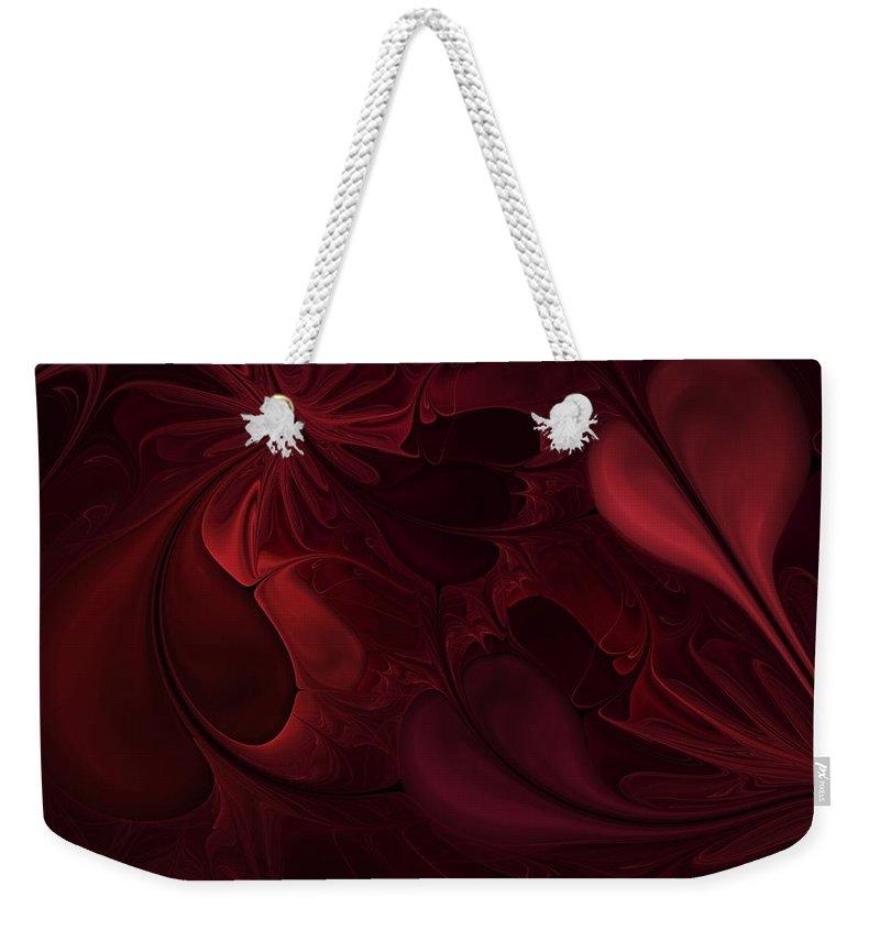 Digital Painting Weekender Tote Bag featuring the digital art Untitled 1-26-10 Reds by David Lane