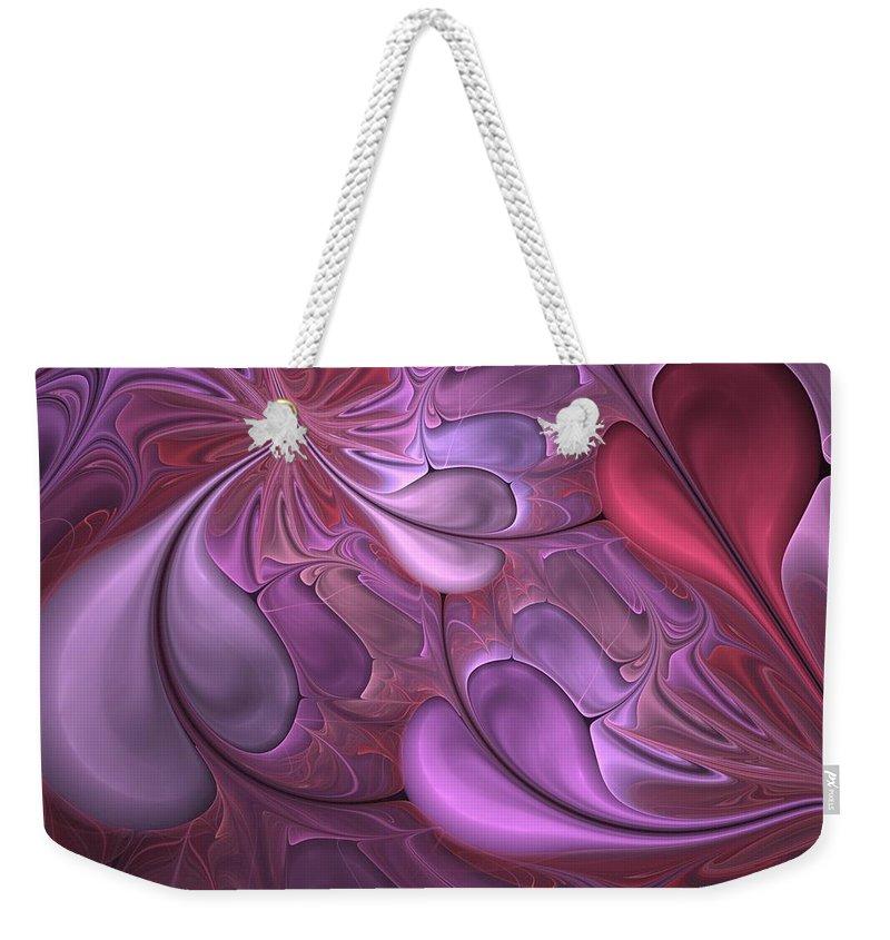 Digital Painting Weekender Tote Bag featuring the digital art Untitled 1-26-10 Valentine by David Lane