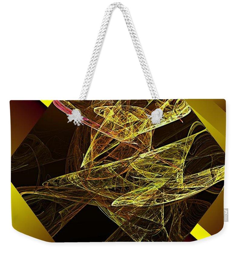 Abstract Digital Painting Weekender Tote Bag featuring the digital art Untitled 11-06-09 by David Lane