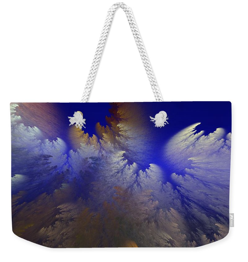 Abstract Digital Painting Weekender Tote Bag featuring the digital art Untitled 11-1-09 by David Lane