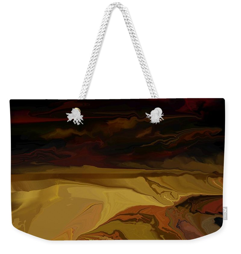 Fantasy Weekender Tote Bag featuring the digital art Untitled 12-02-09 by David Lane