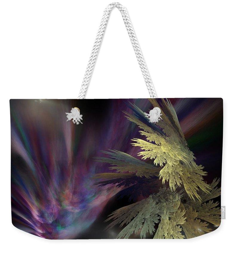 Fantasy Weekender Tote Bag featuring the digital art Untitled 12-05-09 by David Lane