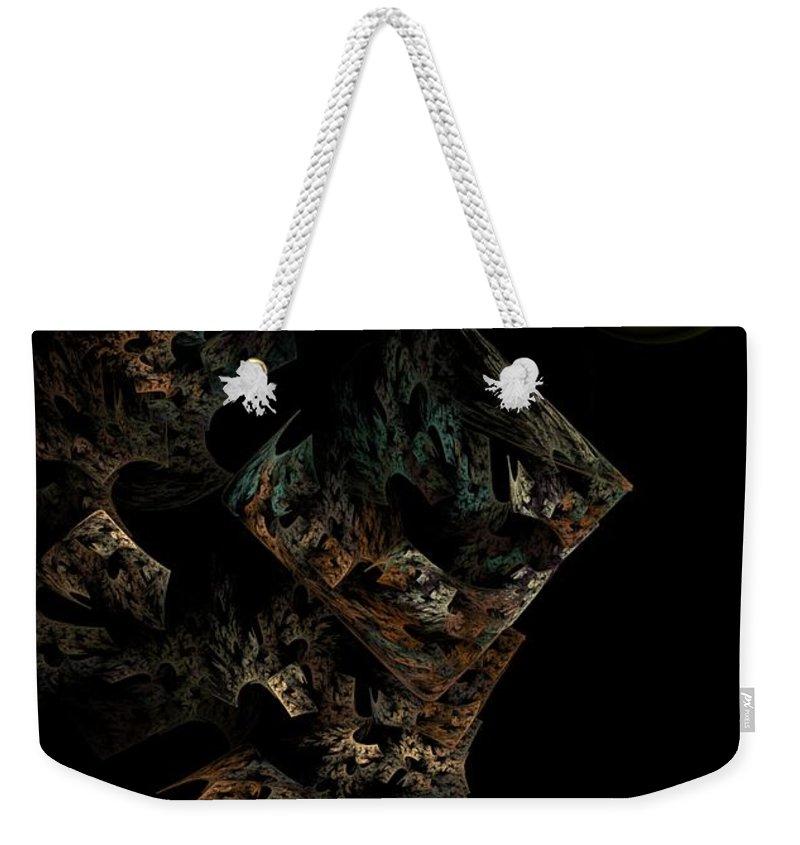 Fantasy Weekender Tote Bag featuring the digital art Untitled 12-18-09 by David Lane