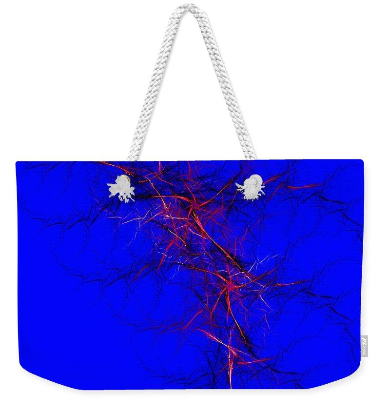 Digital Painting Weekender Tote Bag featuring the digital art Untitled 4-10-1--c by David Lane