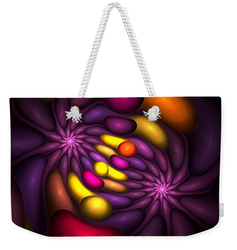 Digital Painting Weekender Tote Bag featuring the digital art Untitled 4-10-10 by David Lane