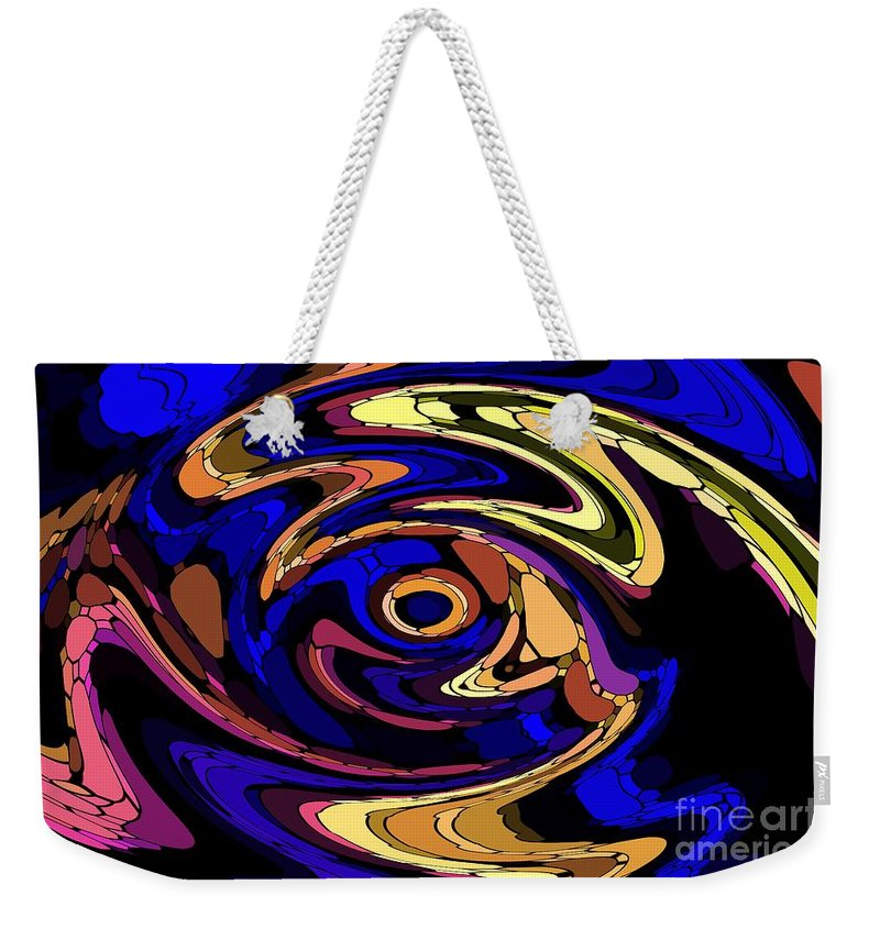 Abstract Weekender Tote Bag featuring the digital art Untitled 7-04-09 by David Lane