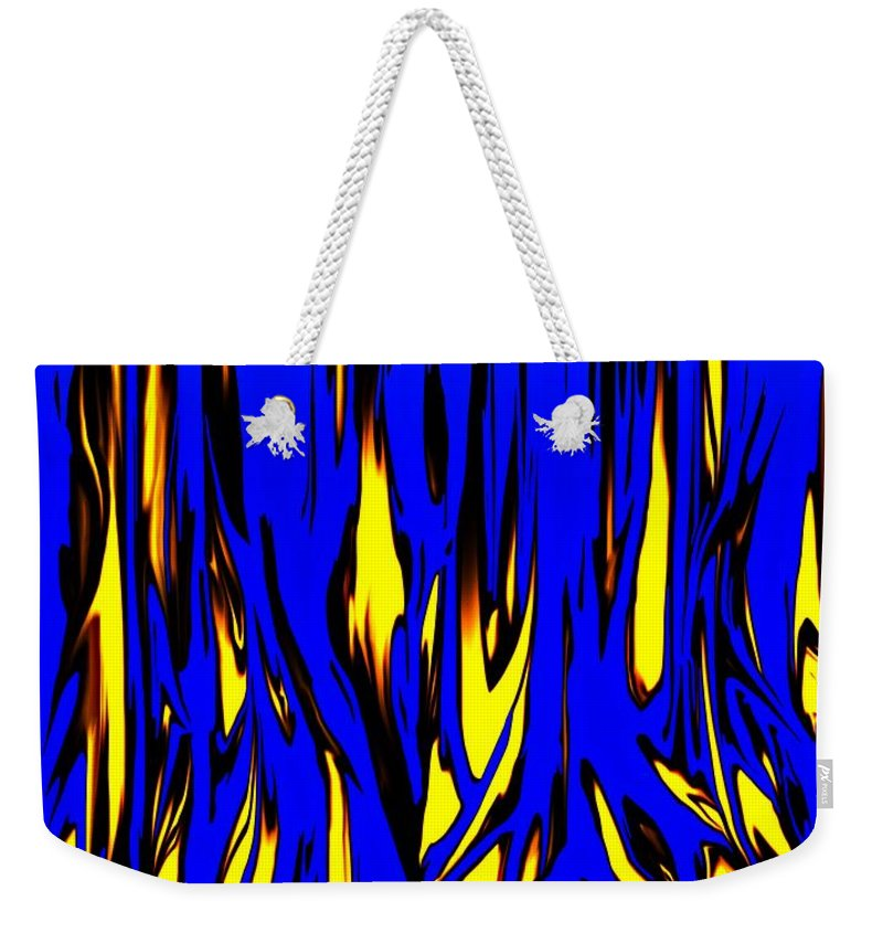 Abstract Weekender Tote Bag featuring the digital art Untitled 7-21-09 by David Lane