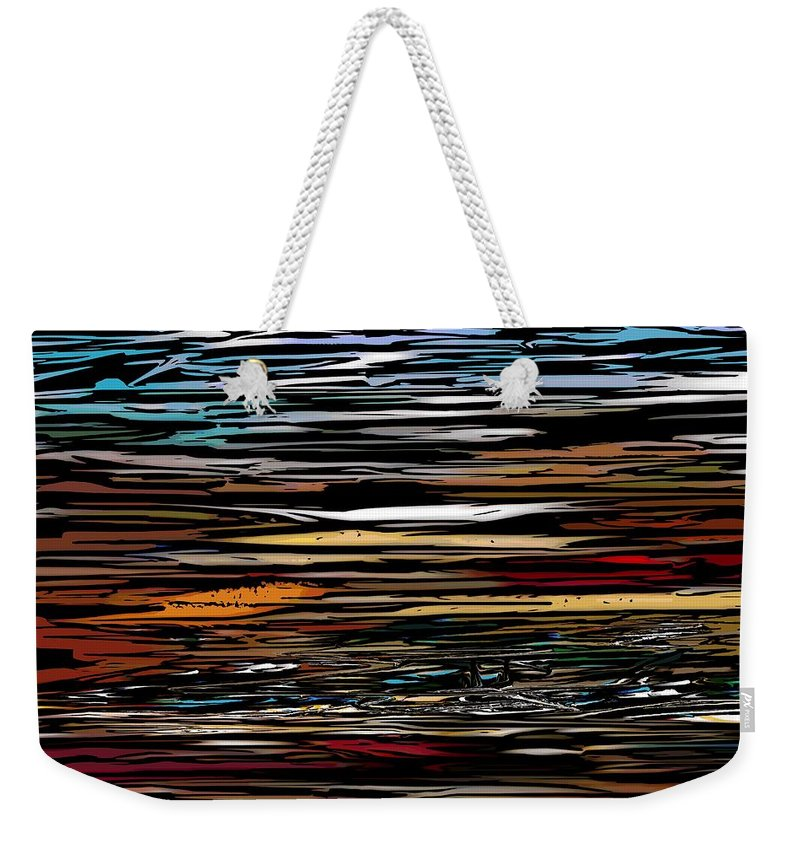 Abstract Digital Painting Weekender Tote Bag featuring the digital art Untitled 9-12-09 by David Lane