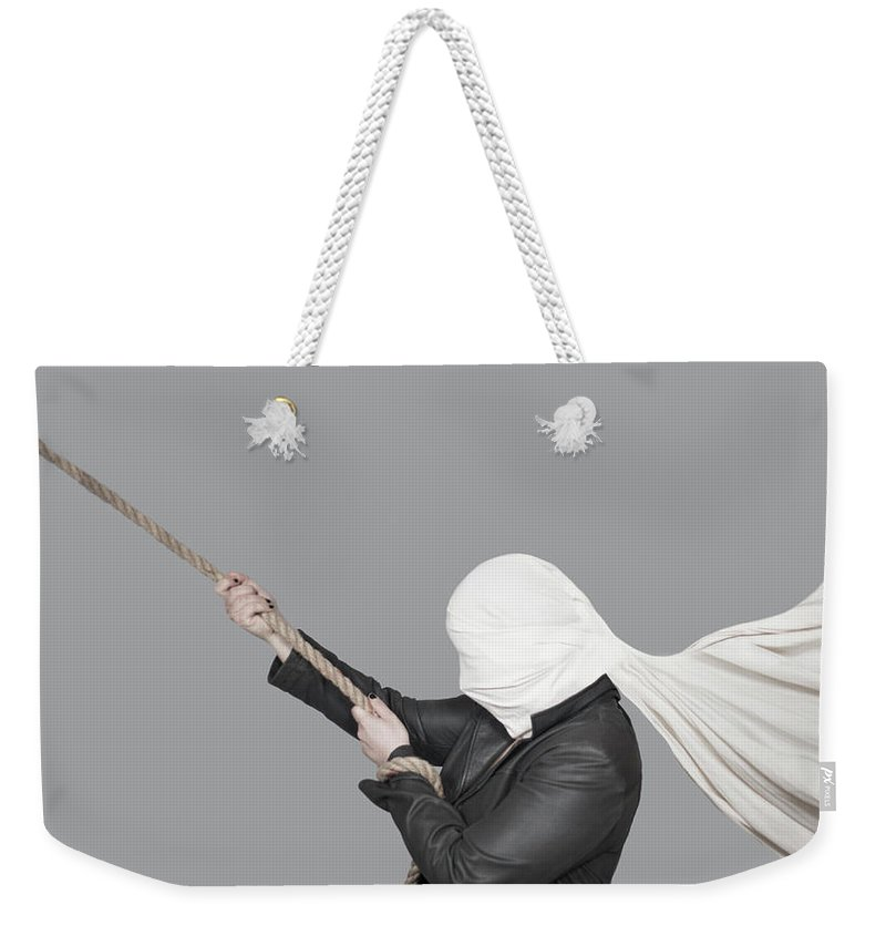 Artofinvi Weekender Tote Bag featuring the mixed media Untitled by Art of Invi