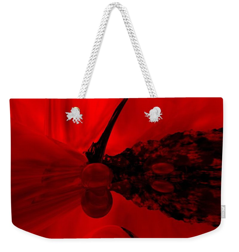 Abstract Weekender Tote Bag featuring the digital art Untitled by David Lane