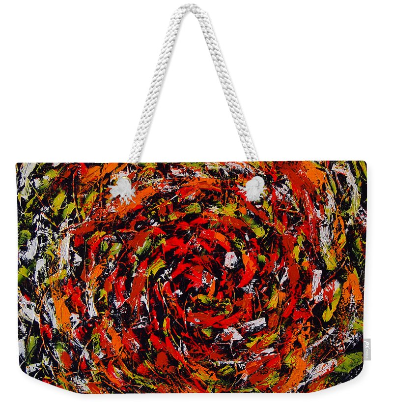 Abstract Weekender Tote Bag featuring the painting Untitled by Dean Triolo
