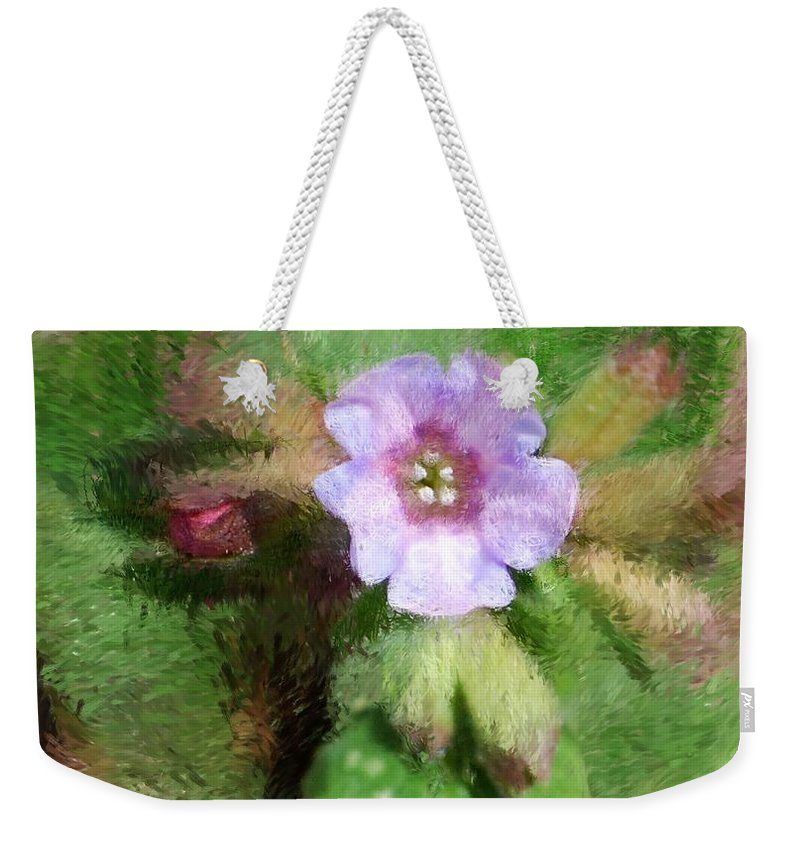 Digital Photo Weekender Tote Bag featuring the photograph Untitled Floral -1 by David Lane