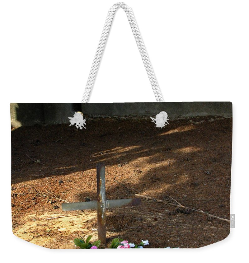 Untitled Grave Weekender Tote Bag featuring the photograph Untitled Grave by Peter Piatt