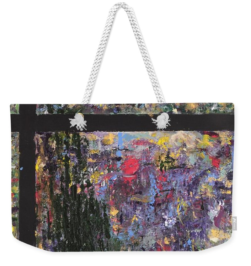 Abstract Painting Weekender Tote Bag featuring the painting Untitled by Jaime Becker