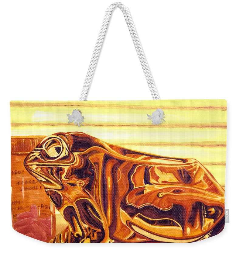 Frog Weekender Tote Bag featuring the painting Untitled by Judy Henninger