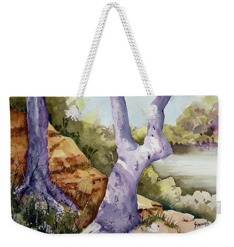 Tree Weekender Tote Bag featuring the painting Untitled by Sam Sidders