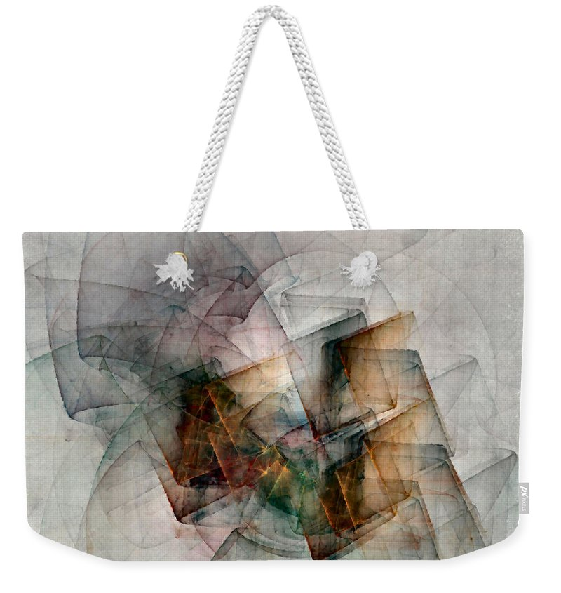 Study Weekender Tote Bag featuring the digital art Untitled Study No. 705 by NirvanaBlues