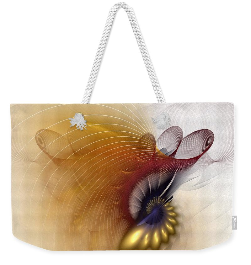 Abstract Weekender Tote Bag featuring the digital art Untitled Study No.601 by NirvanaBlues