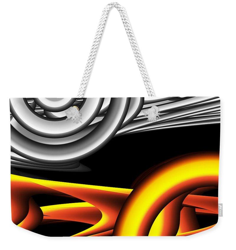 Silver Weekender Tote Bag featuring the digital art Untitled Xvii by Tiia Vissak