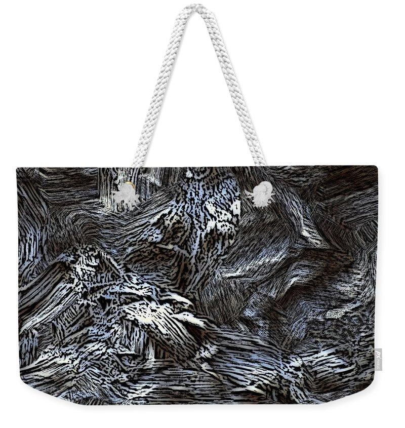 Abstract Digital Painting Weekender Tote Bag featuring the digital art Untitled11-14-09 by David Lane