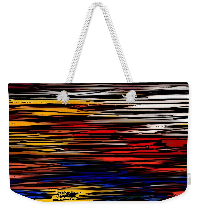 Abstract Digital Painting Weekender Tote Bag featuring the digital art Untitled2 9-12-09 by David Lane