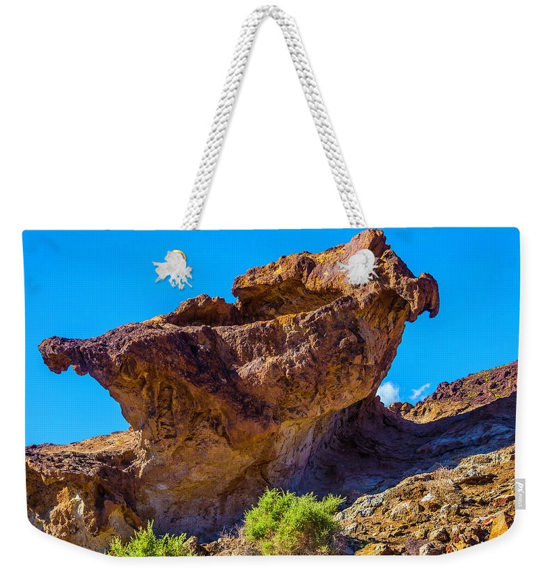 Unusual Weekender Tote Bag featuring the photograph Unusual Rock California by Garry Gay