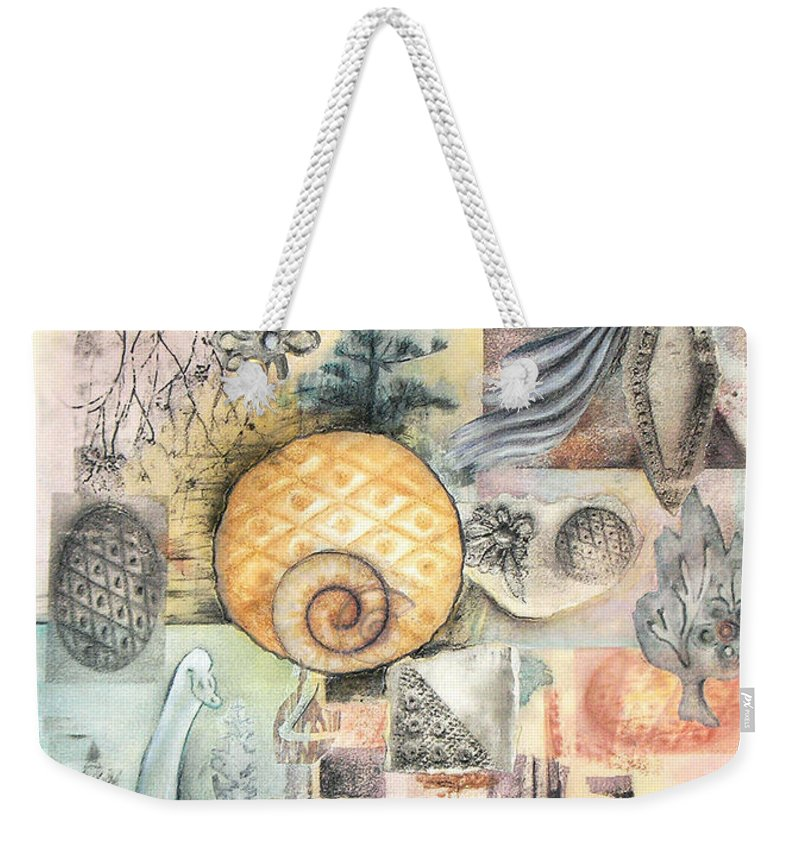 Abstract Weekender Tote Bag featuring the mixed media Up And Away by Valerie Meotti