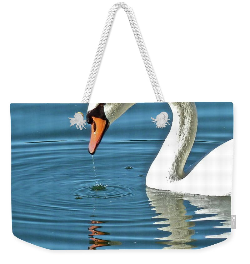 Bird Weekender Tote Bag featuring the photograph Up For Air by Diana Hatcher