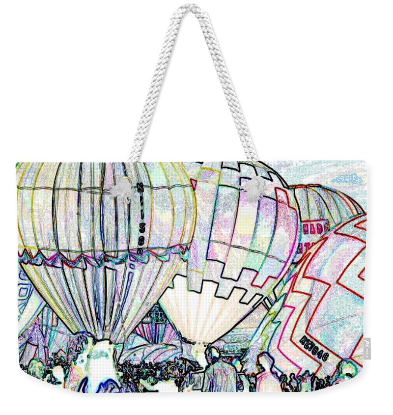 Balloons Weekender Tote Bag featuring the photograph Up Up And Away by Tim Allen