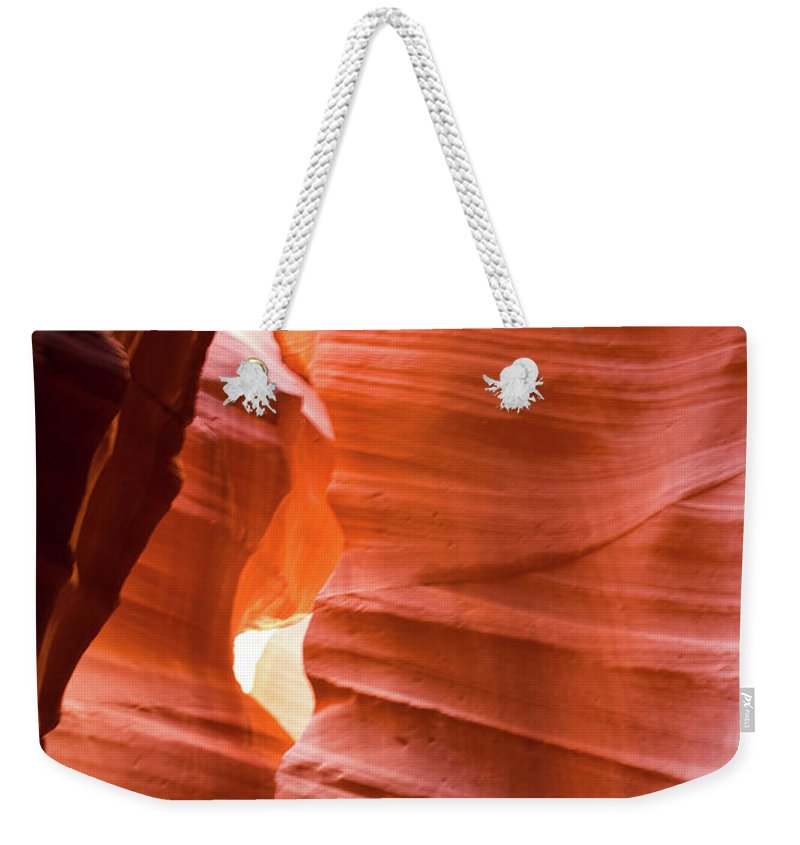 Antelope Weekender Tote Bag featuring the photograph Upper Antelope Canyon 4 by Shelly Priest