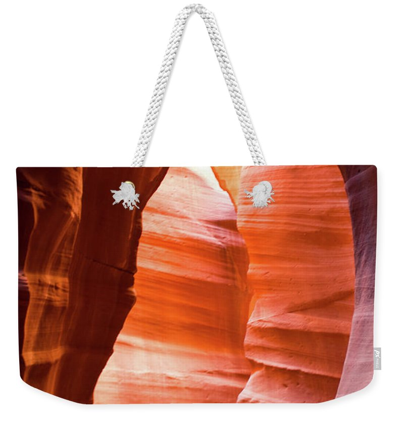 Antelope Weekender Tote Bag featuring the photograph Upper Antelope Canyon 5 by Shelly Priest
