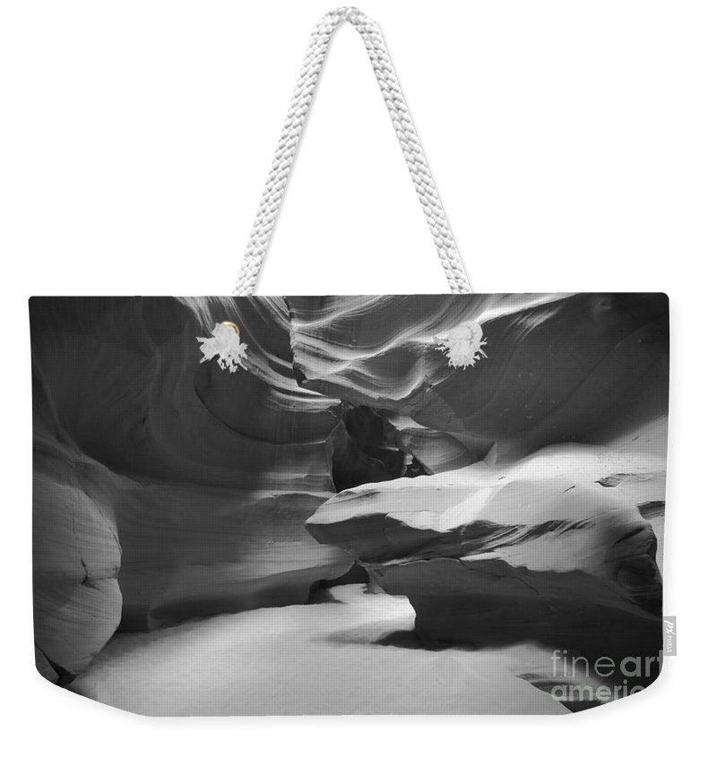 Upper Antelope Canyon Weekender Tote Bag featuring the photograph Upper Antelope Chamber by Adam Jewell