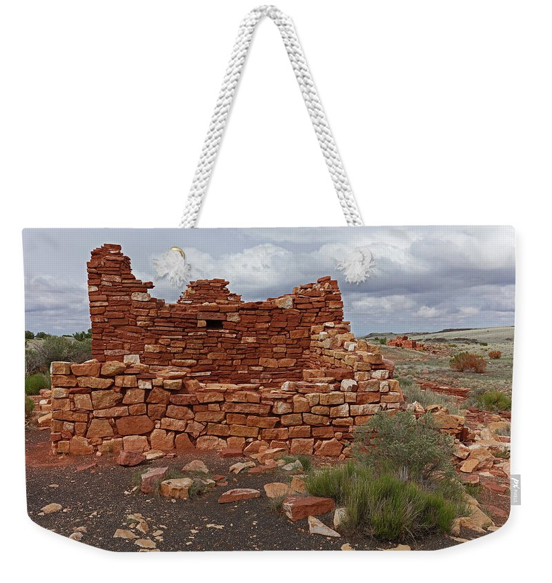 Tom Daniel Weekender Tote Bag featuring the photograph Upper Box Canyon Ruin by Tom Daniel