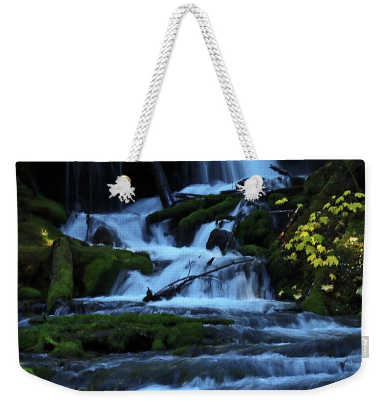 Waterfall Weekender Tote Bag featuring the photograph Upper Falls by Mary Masters