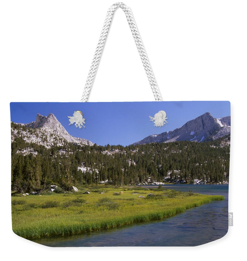 Upper Pine Lake Weekender Tote Bag featuring the photograph Upper Pine Lake by Soli Deo Gloria Wilderness And Wildlife Photography