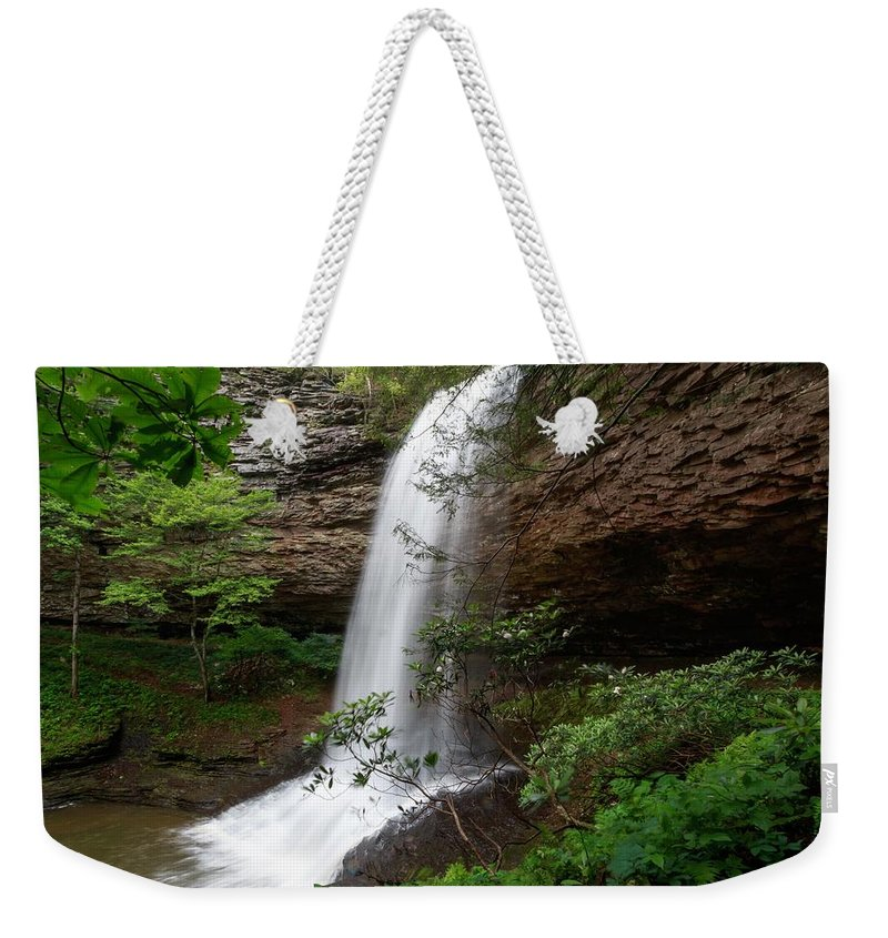 Upper Piney Falls Weekender Tote Bag featuring the photograph Upper Piney Falls by Chris Berrier
