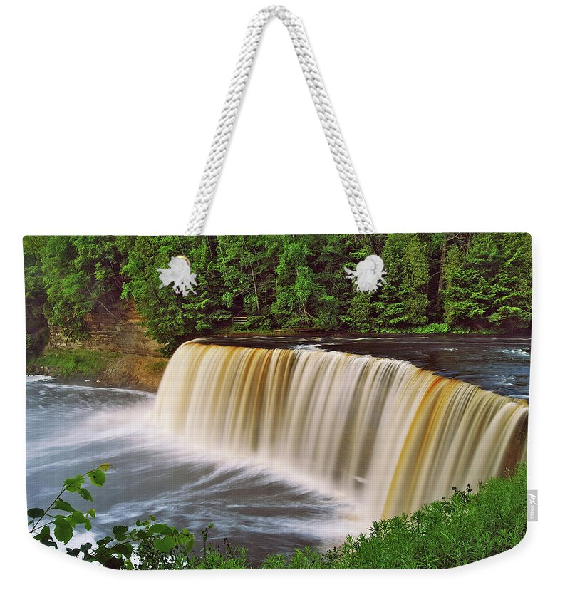Tahquamenon Weekender Tote Bag featuring the photograph Upper Tahquamenon 6229 by Michael Peychich