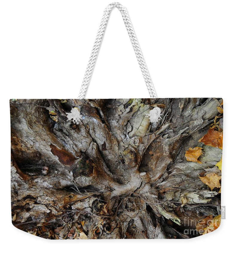 Tree Weekender Tote Bag featuring the photograph Uprooted by David Arment