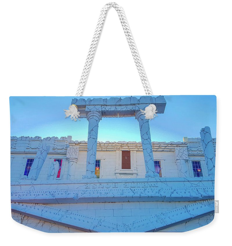 Attraction Weekender Tote Bag featuring the photograph Upside Down White House by Art Spectrum