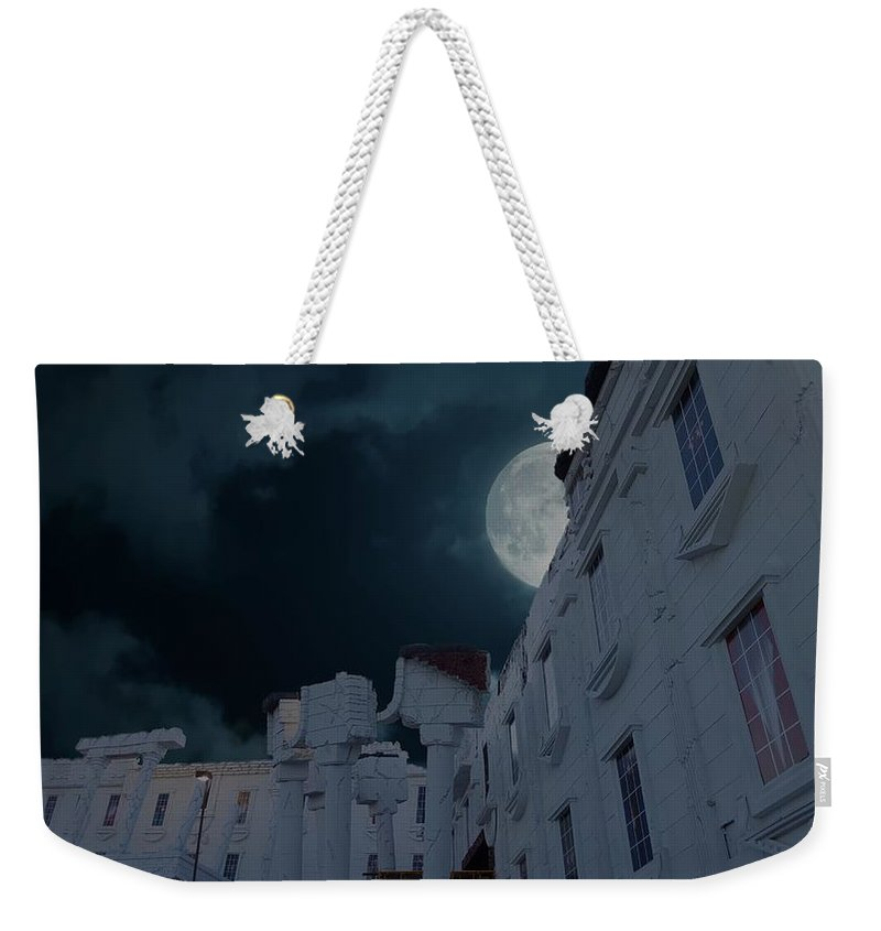 Attraction Weekender Tote Bag featuring the photograph Upside Down White House At Night by Art Spectrum