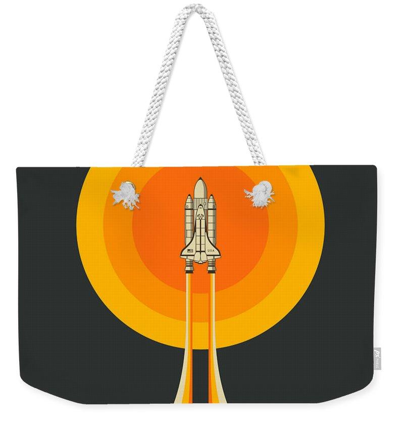 Space Ship Weekender Tote Bags
