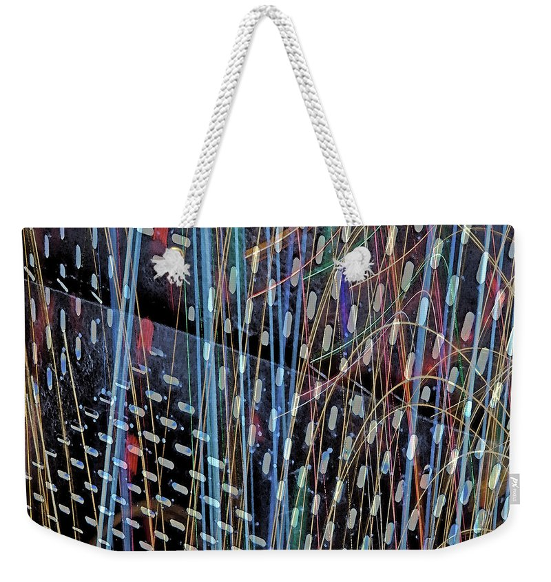 City Weekender Tote Bag featuring the photograph Urban Abstract 236 by Don Zawadiwsky