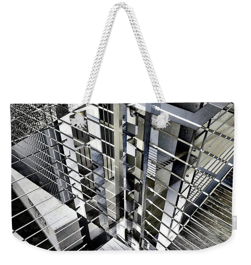 City Weekender Tote Bag featuring the photograph Urban Abstract 94 by Don Zawadiwsky